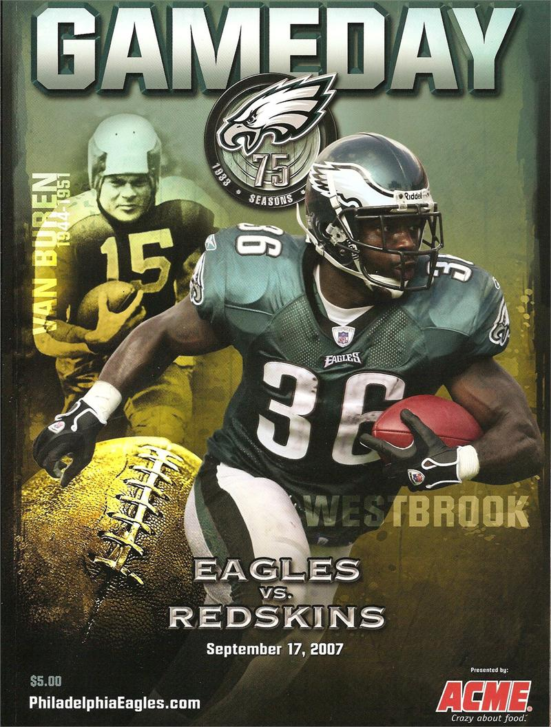 Eagles Vs Redskins Gameday Program September 17 2007