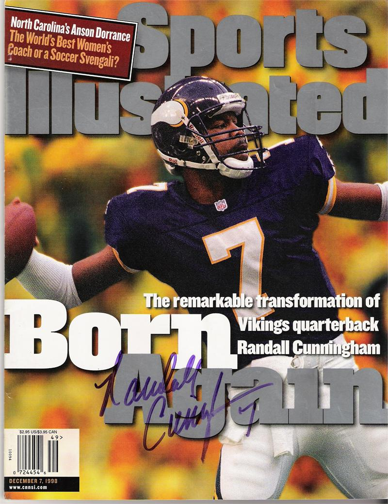 Randall Cunningham Sports Illustrated Autographed