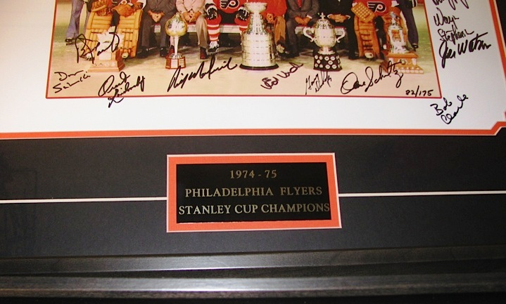 1974 75 Stanley Cup Champions Team Photo Signed Framed