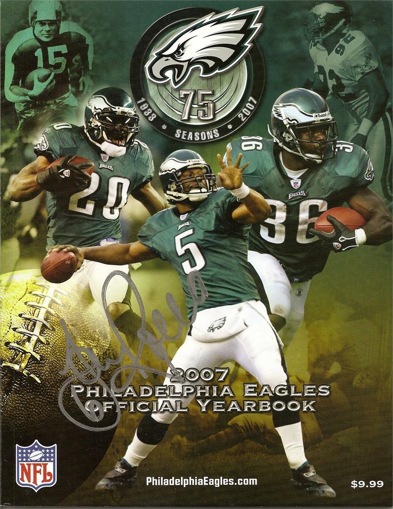 Sav Rocca Autographed 2007 Philadelphia Eagles Official