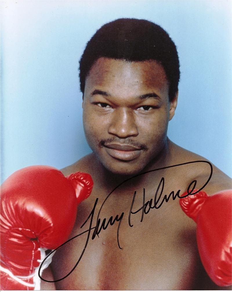 Larry Holmes Signed Photo